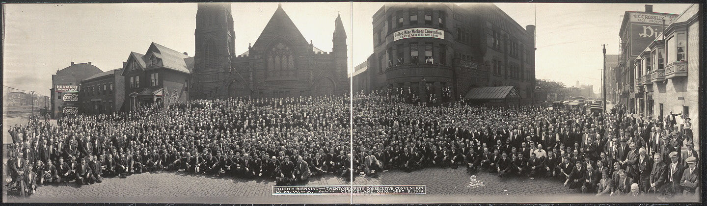 Fourth biennial and twenty-seventh consecutive convention, U.M.W. of A. held at Cleveland, Ohio, Sept. 9, 1919