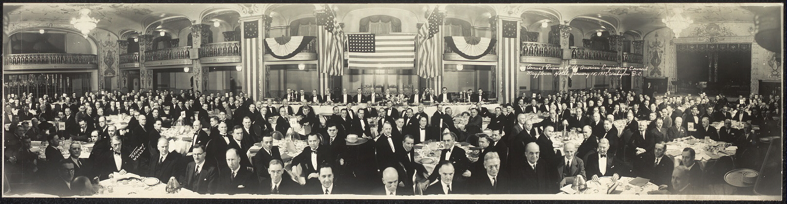 Annual Dinner of the American Engineering Council, Mayflower Hotel, January 15, 1937, Washington, D.C.