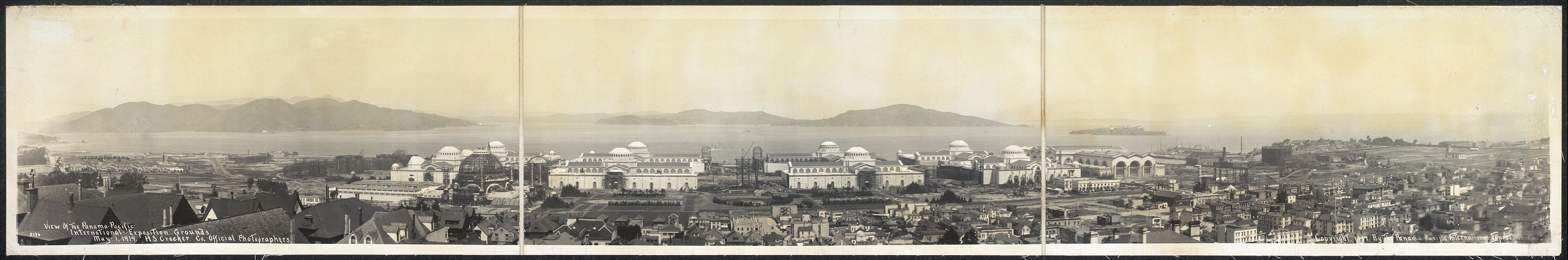 View of the Panama-Pacific International Exposition grounds, May 1, 1914