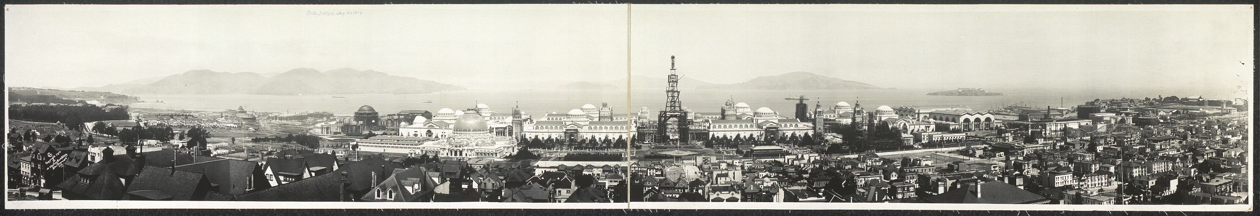 [Bay and Exposition from 2626 Vallejo St., San Francisco]
