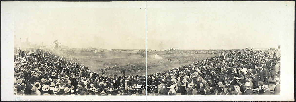 The battle, U.S. Government War Exposition, Chicago, Sept. 3rd, 1918