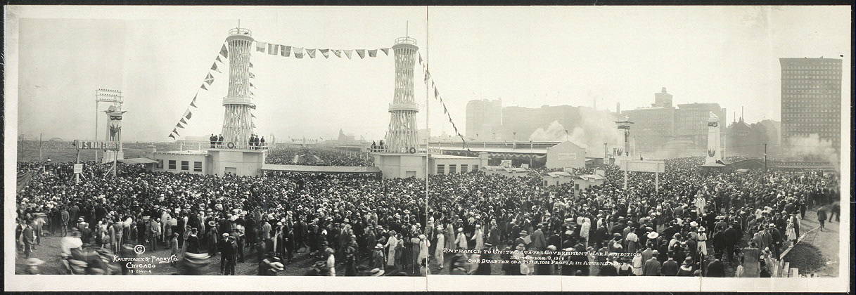 Entrance to United States Government War Exhibition, September 8, 1918, one quarter of a million people in attendance