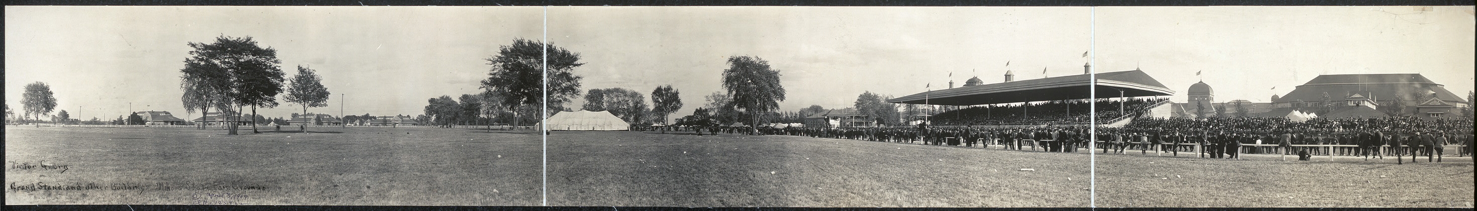 Grand stand and other buildings, Illinois State Fair Grounds