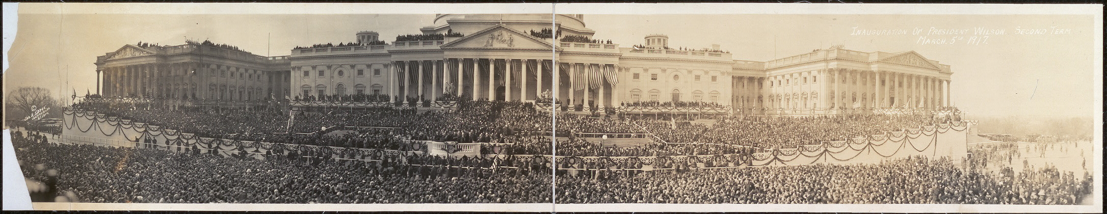 Inauguration of President Wilson, second term, March 5th, 1917