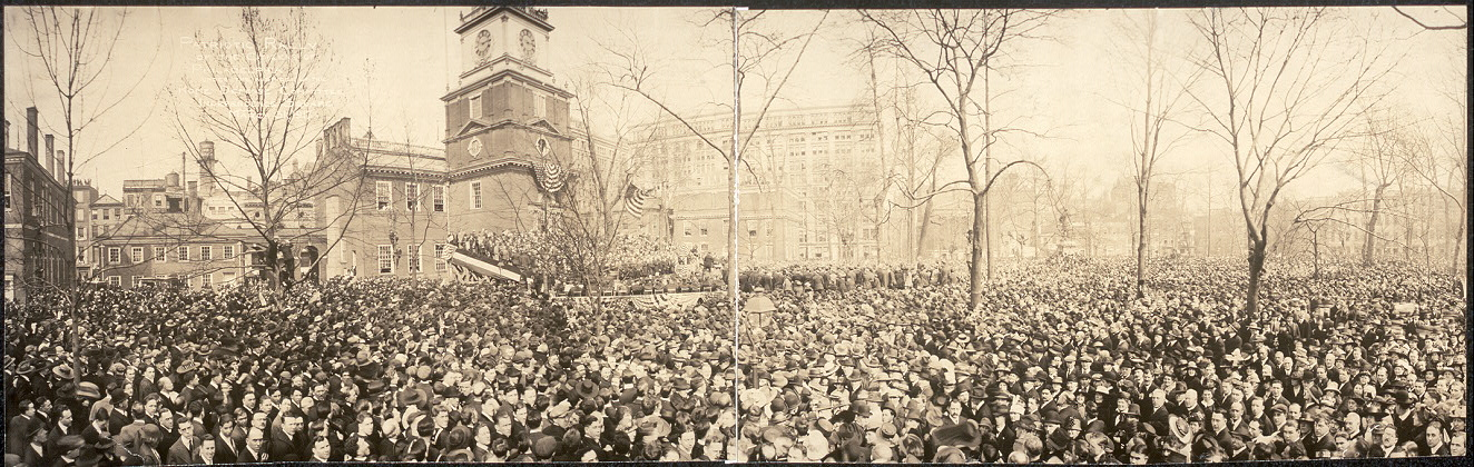 Patriotic Rally of the citizens of Philadelphia under the auspices of the Home Defense Committee, Independence Square, March 31, 1917