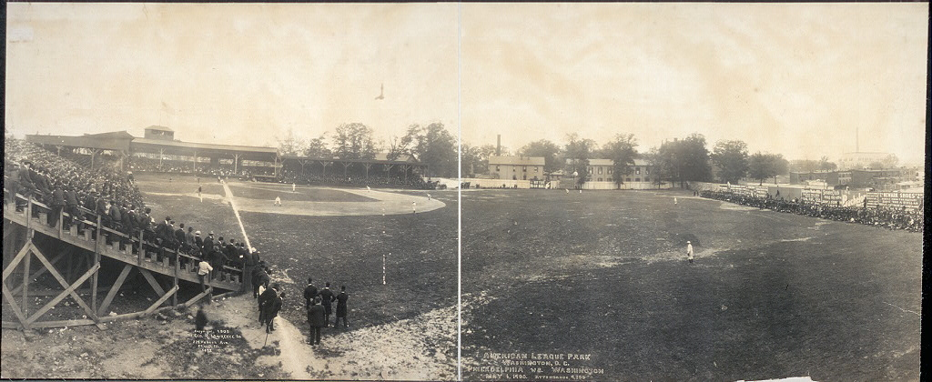 American League Park, Washington, D.C., Philadelphia vs. Washington, May 6, 1905, attendance 9,300