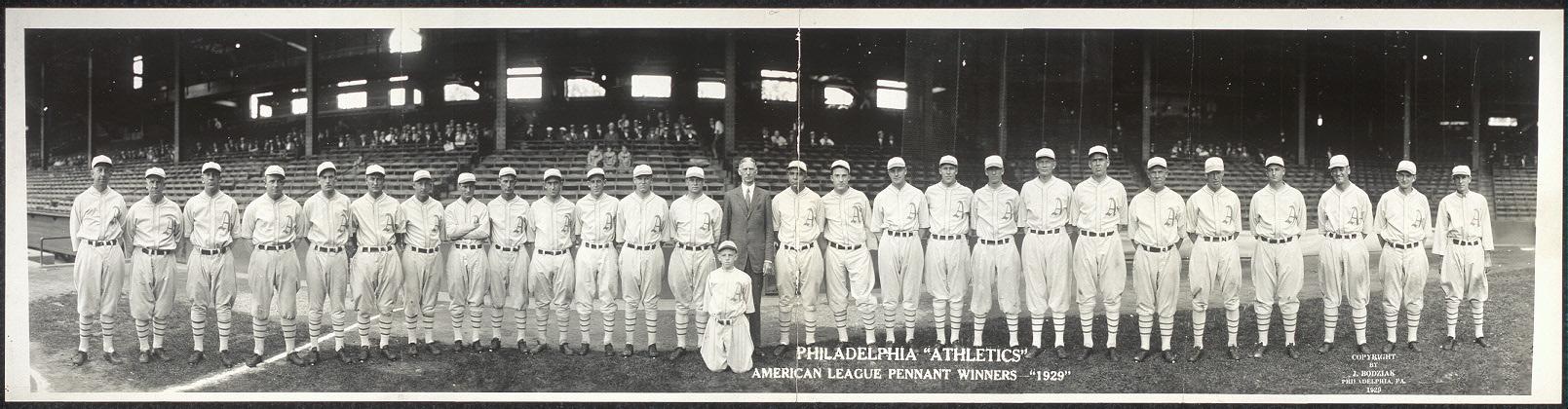 """Philadelphia """"Athletics"""", American League pennant winners, """"1929"""""""