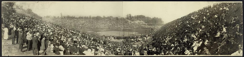 Amateur championship game, Telling's Strollers vs. Hanna's Cleaners, Brookside Stadium, Sept. 20, 1914, attendance 100,000