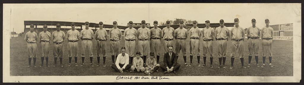 Oriole 1921 baseball team