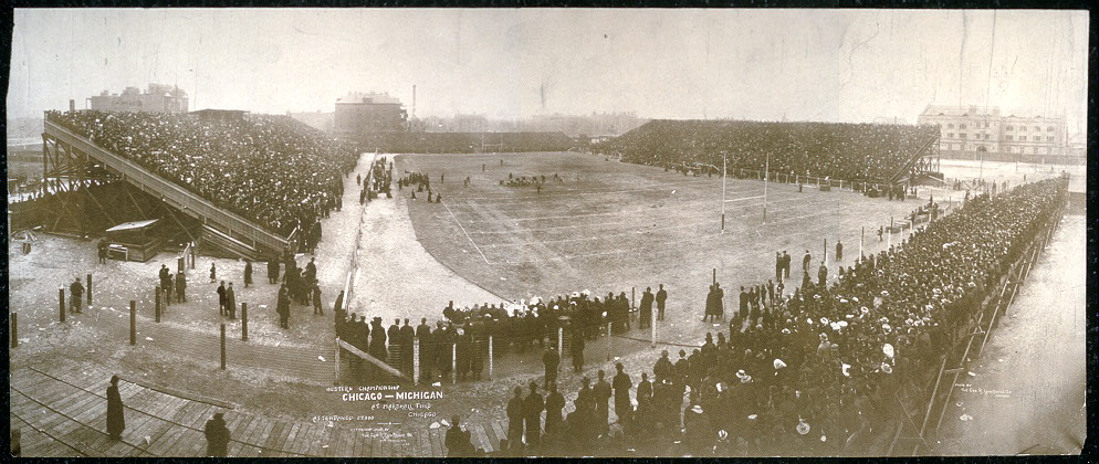 Western Championship, Chicago - Michigan at Marshall Field, Chicago, attendance, 27,000