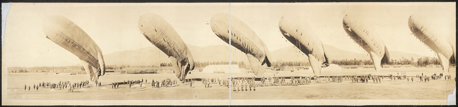 Balloons at inspection, Arcadia, Calif.