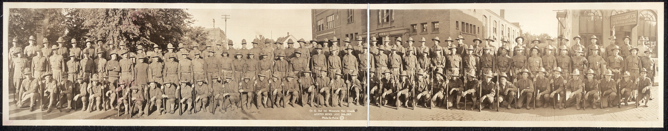 Co. G, 2nd Inf., Minnesota Nat. Guards, Austin, Minn., Aug. 28th, 1917