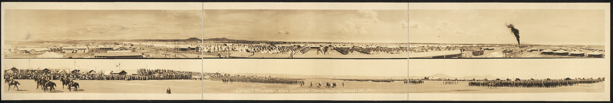 Grand Review, 40th Division, Camp Kearny, March 9th, 1918