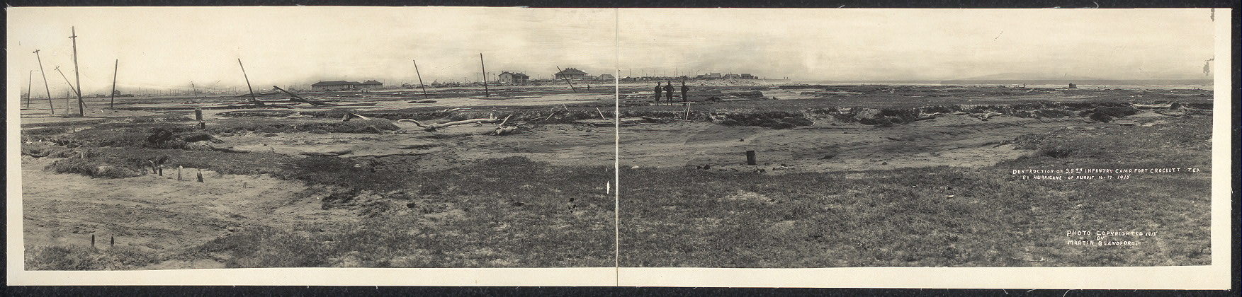 Destruction of 28th Infantry Camp, Fort Crockett, Tex. by hurricane of August 16-17, 1915