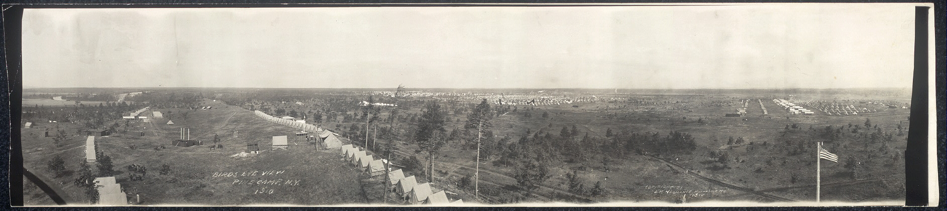 Birds eye view, Pine Camp, N.Y., 1910
