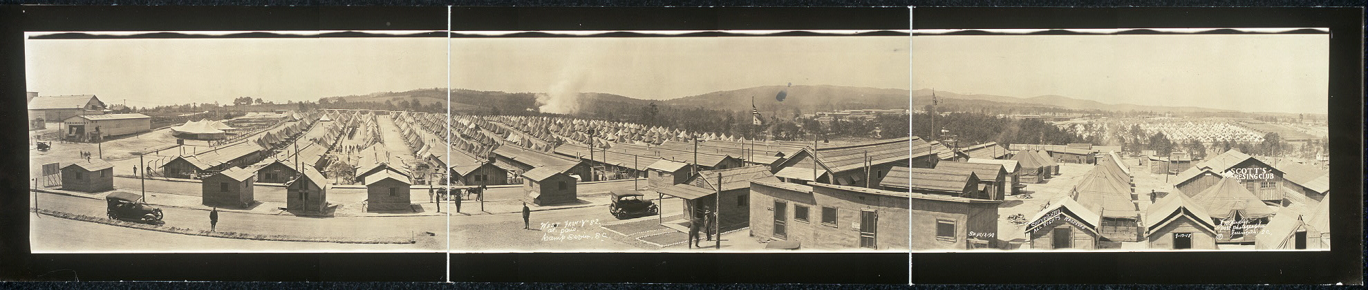 "West from ""Y"" 82, at Paris, Camp Sevier, S.C."
