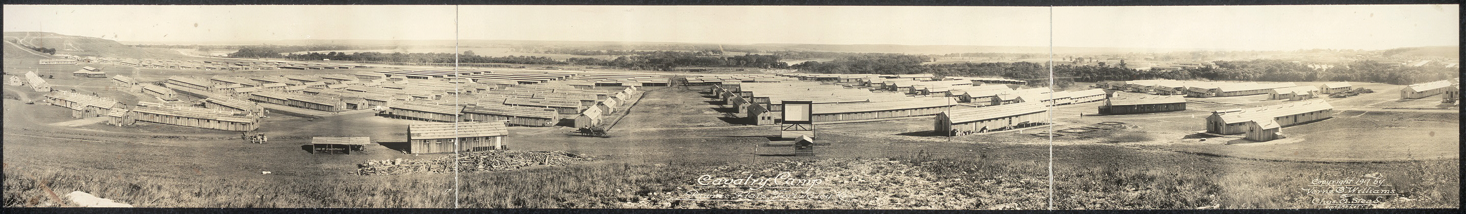 Cavalry Camp, Pawnee Flats, Fort Riley, Kas.