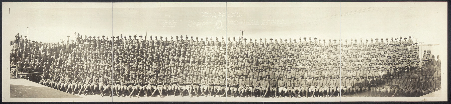 Officers of the 34th Division, Camp Cody, N.M., June 23, 1918