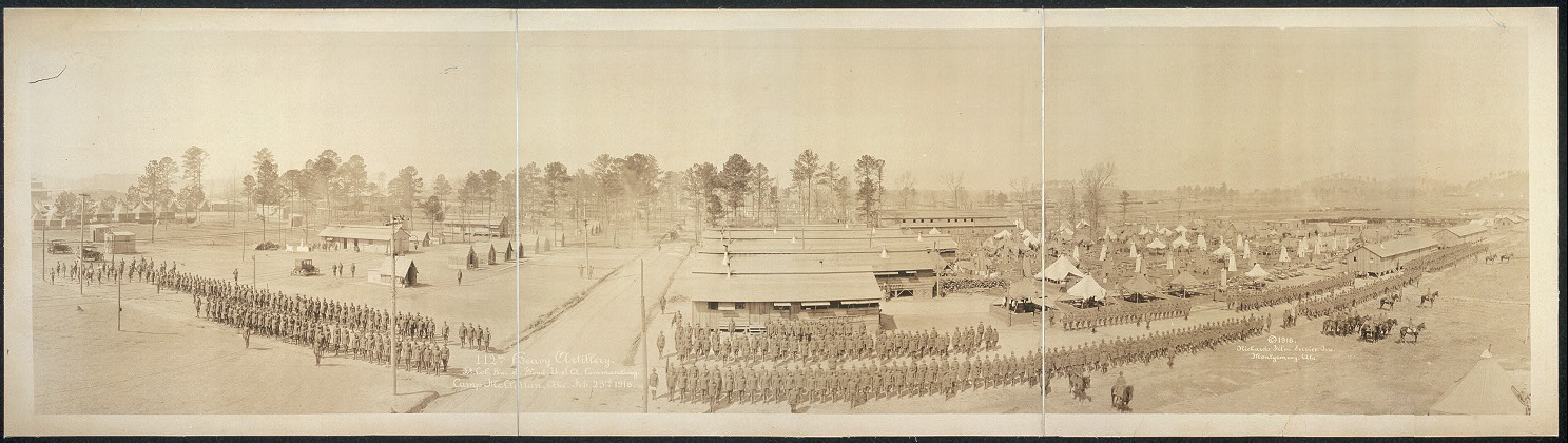 112th Heavy Artillery, Lt. Col. Wm. S. Wood, U.S.A. commanding, Camp McClellan, Ala., Feb. 23rd, 1918