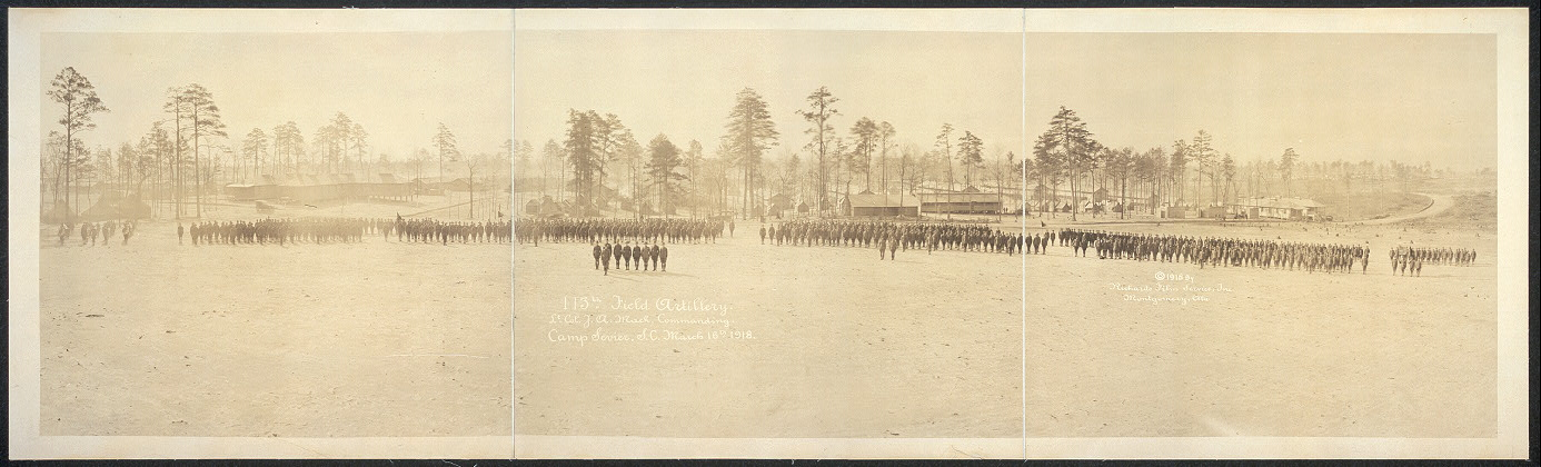 113th Field Artillery, Lt. Col. J.A. Mack, commanding, Camp Sevier, S.C., March 16th 1918