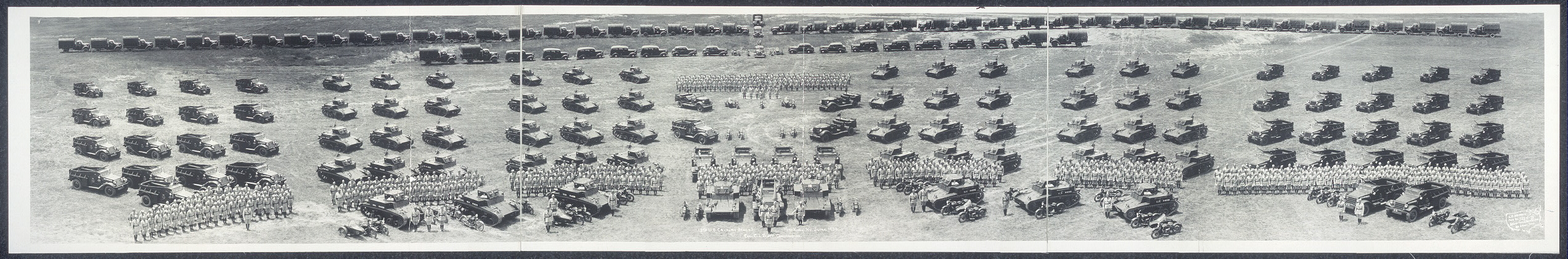 13th U.S. Cavalry (Mecz.), Fort Knox, Ky., June 1938, Col. C.L. Scott commanding