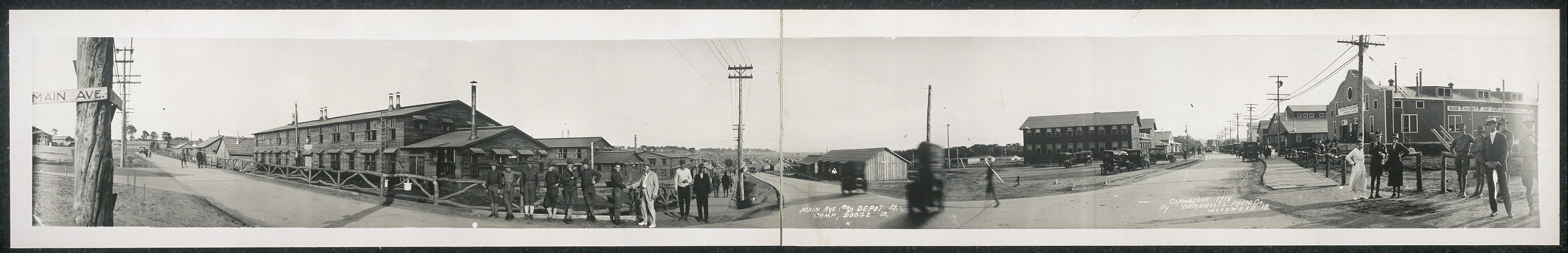 Main Ave. and Depot St., Camp Dodge, Ia.