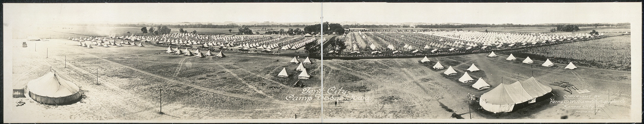 Tent City, Camp Dodge, Iowa