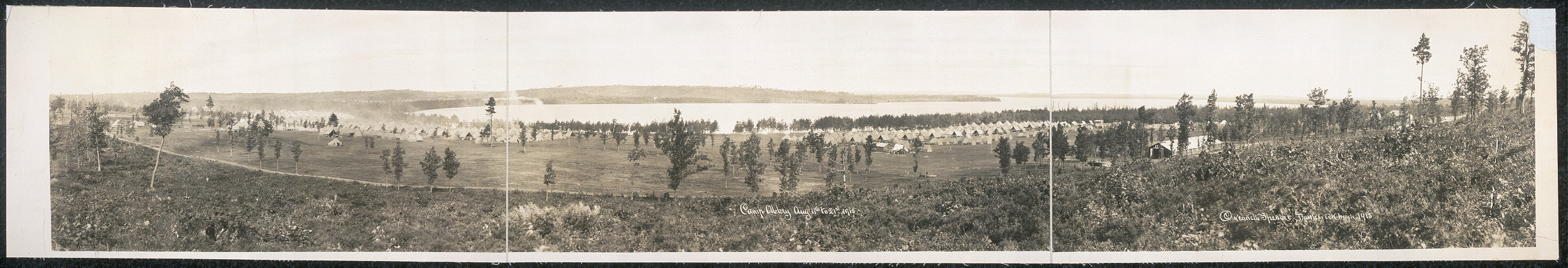 Camp Abbey, Aug. 11th to 21st, 1915