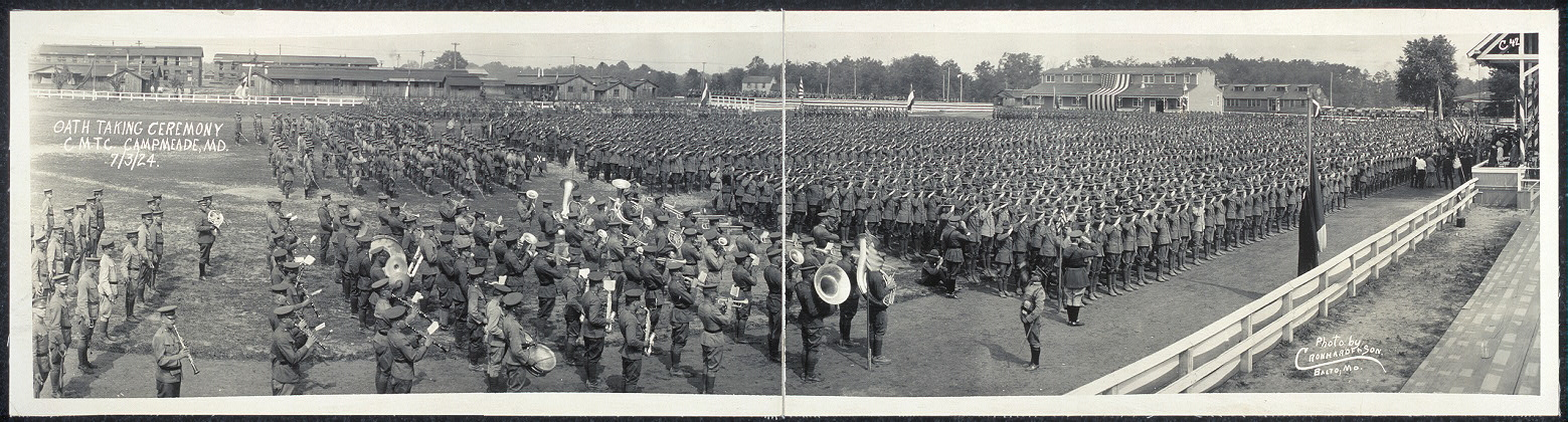 Oath taking ceremony, C.M.T.C., Camp Meade, Md., 7/3/24