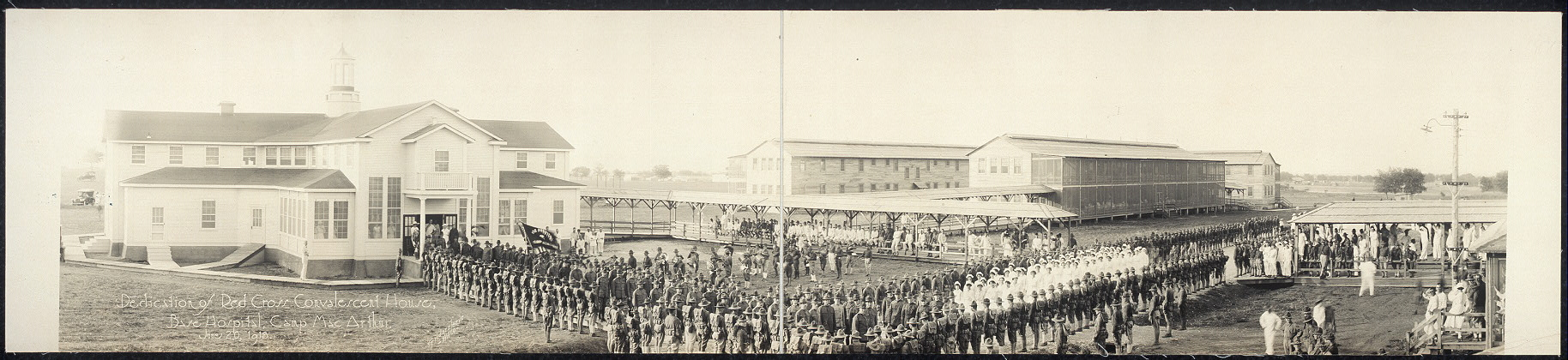 Dedication of Red Cross Convalescent House, Base Hospital, Camp MacArthur, June 20, 1918