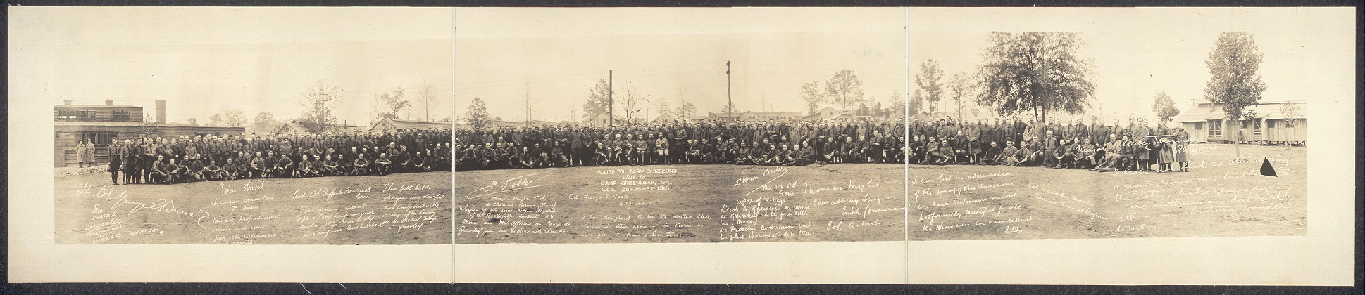 Allied military surgeons visit to Camp Greeenleaf, Ga., Oct. 25-26-27, 1918