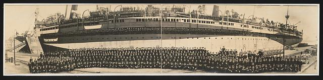 Officers and crew, U.S.S. Mount Vernon, October 30, 1918