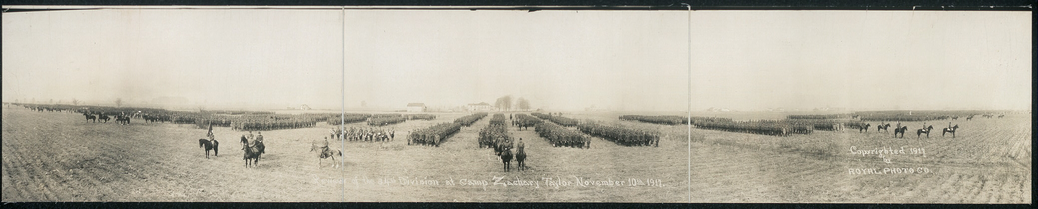 Review of the 84th Division at Camp Zachary Taylor, November 10th, 1917