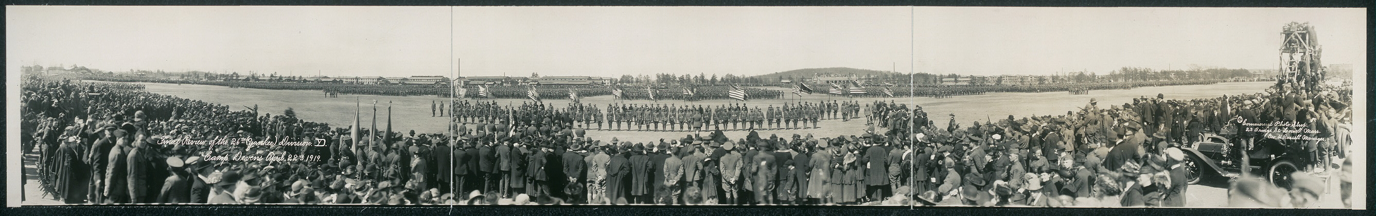 Final review of the 26th (Yankee) Division, Camp Devens, April 22nd, 1919