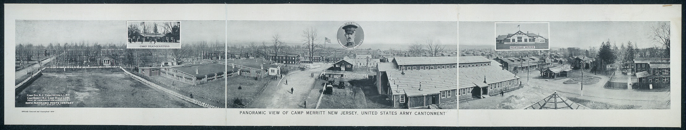 Panoramic view of Camp Merritt, New Jersey, United States Army Cantonment