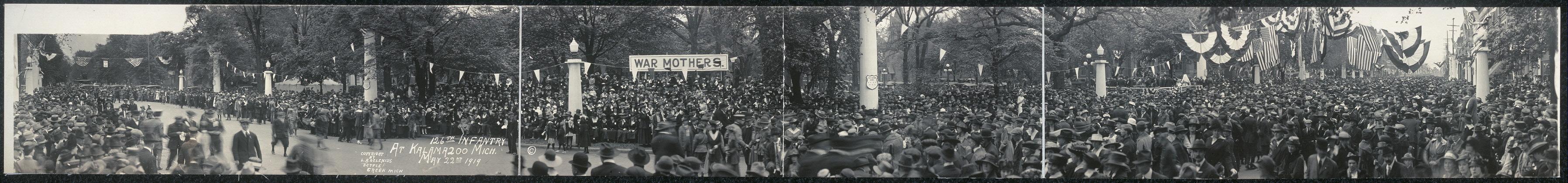 126th Infantry at Kalamazoo, Mich., May 22nd, 1919