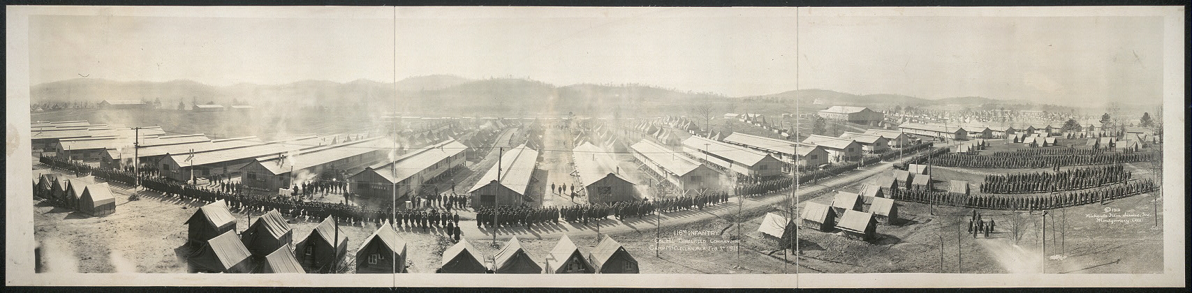 116th Infantry, Col. H. L. Threlkeld, commanding, Camp McClellan, Ala., Feb. 5th, 1918