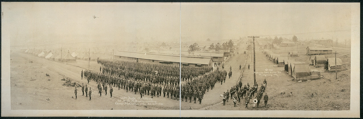 110th Field Artillery, Col. N.B. Rebkopf, commanding, Camp McClellan, Ala., Feb. 27th, 1918