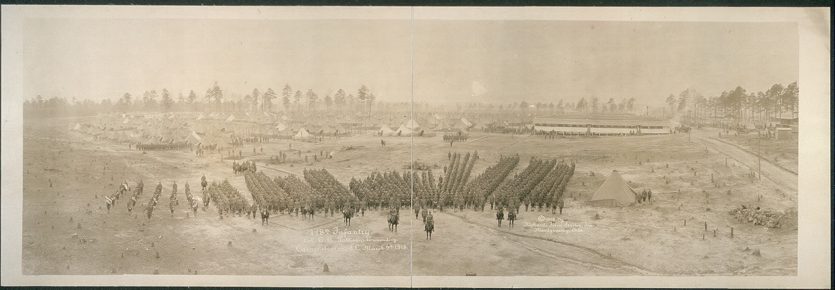 118th Infantry, Col. H.H. Pattison commanding, Camp Sevier, S.C., March 9th, 1918