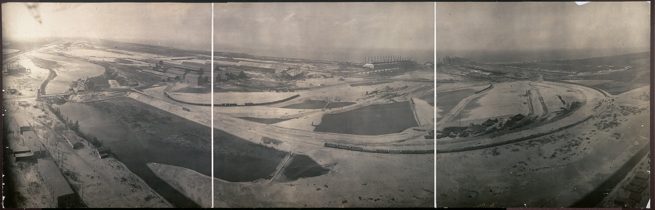 Bird's eye view, Gary Works, Indiana Steel Co., I.
