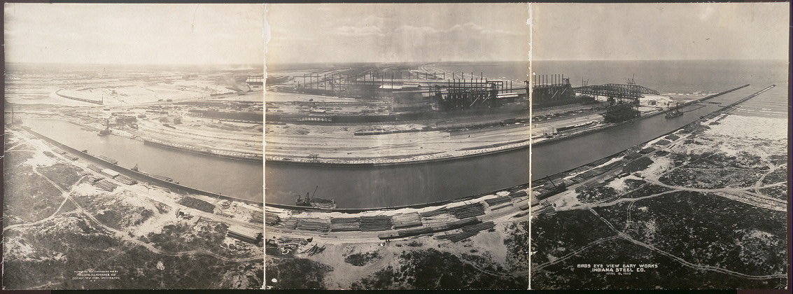 Birds eye view, Gary Works, Indiana Steel Co., April 18, 1908