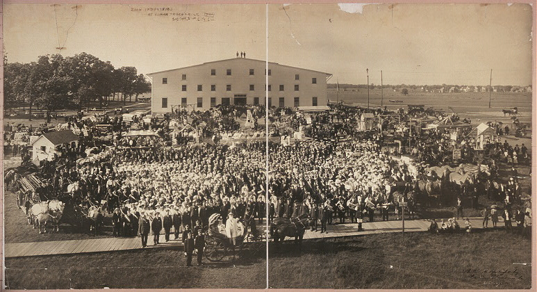 Zion Industries at Shiloh Tabernacle, July 1904, Zion City, Ill.