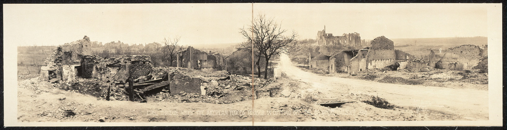 Limy, through which the American forces passed in cutting off the St. Mihiel Salient, 1918