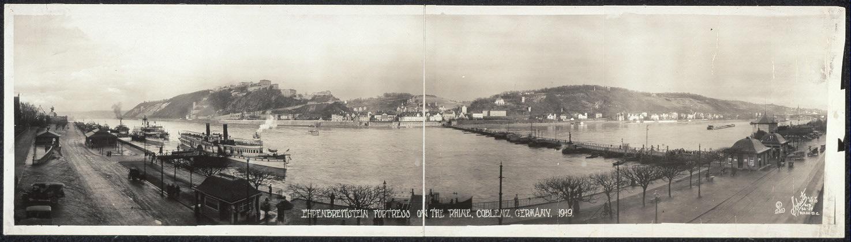 Ehrenbreitstein Fortress on the Rhine, Coblenz, Germany, 1919