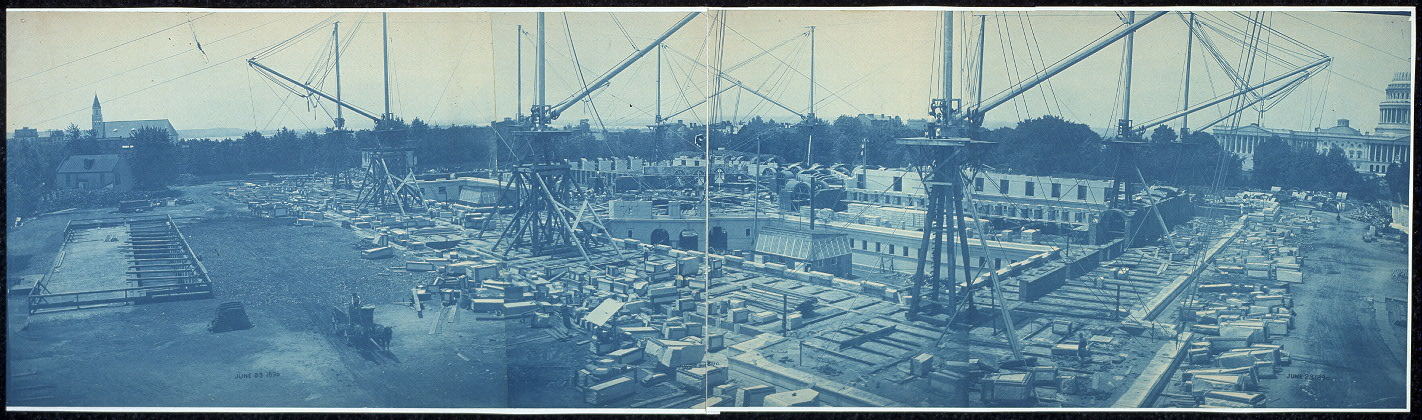 Construction of the Library of Congress, Washington, D.C., June 23, 1890