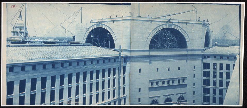 Construction of the Library of Congress, from S.E. derrick, Washington, D.C., July 18, 1892