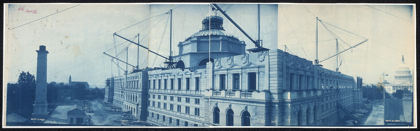 Construction of the Library of Congress, Washington, D.C., Sept. 5, 1893