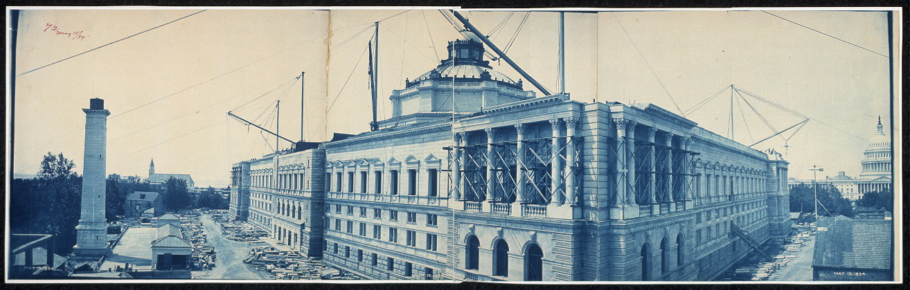 Construction of the Library of Congress, Washington, D.C., May 15, 1894