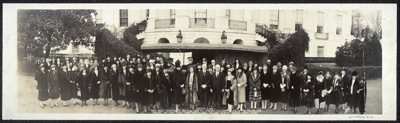 January 12, 1927. White House reception by the President and Mrs. Coolidge; Conference of the Republican National Committee Women, State Vice Chairmen & Presidents of the Republican Women's Clubs