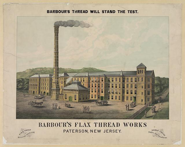 Barbour's flax thread works. Patterson, New Jersey